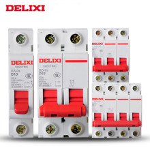 Delixi MCB -Mini circuit breaker DZ47s 1P 10A 16A 20A 25A 32A 40A 63A  Photovoltaic solar DC circuit breaker air switch стоимость
