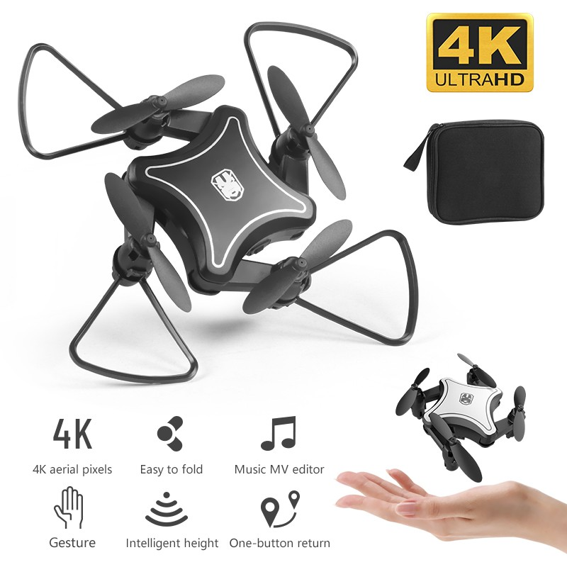 2019 New Original Mini Drone Folding UAV RC Drone With 4K HD Video Camera 4-axis Dron RC Quadcopter Kids Helicopter Drones Toys