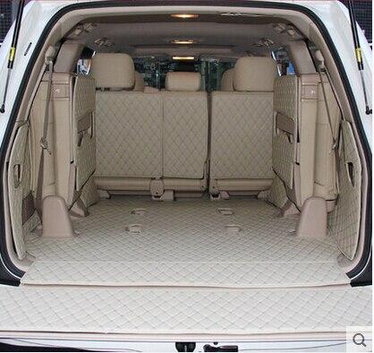 Специальные автомобильные коврики для багажника Toyota Land Cruiser 100 7 мест 2007-1998 водонепроницаемые Ковровые Коврики для багажника LC100 2002