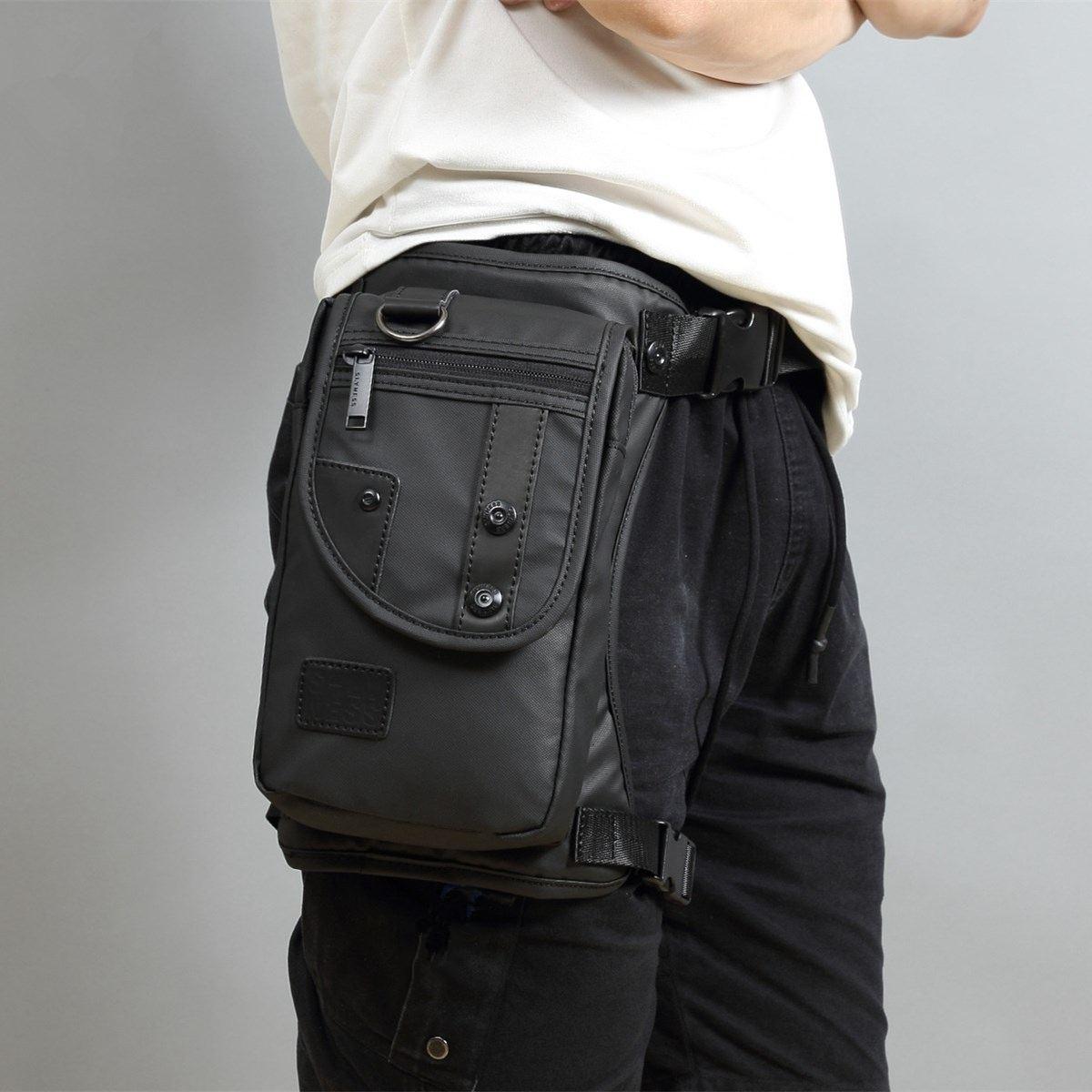 New Fashion Men Oxford Drop Leg Bag Fanny Waist Pack Thigh Hip Bum Belt Casual Shoulder Bag Motorcycle Riding Travel Military