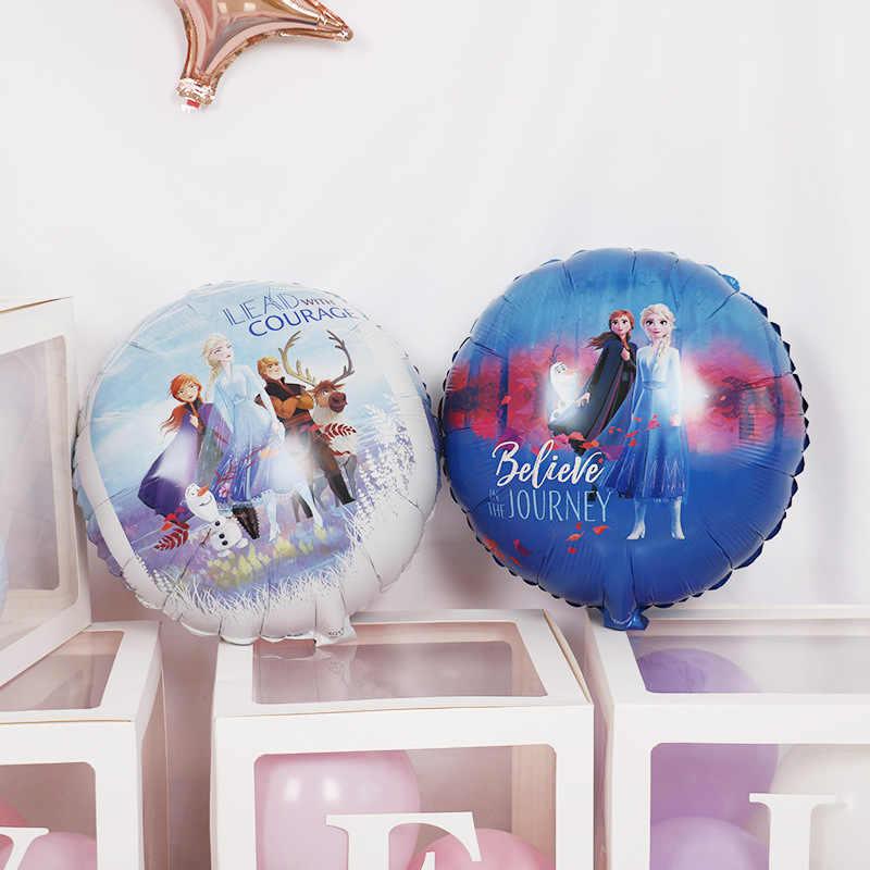 Mrożone Elsa Anna księżniczka balony na brzuszkowe dekoracja urodzinowa dla dzieci dwustronne balony z folii aluminiowej