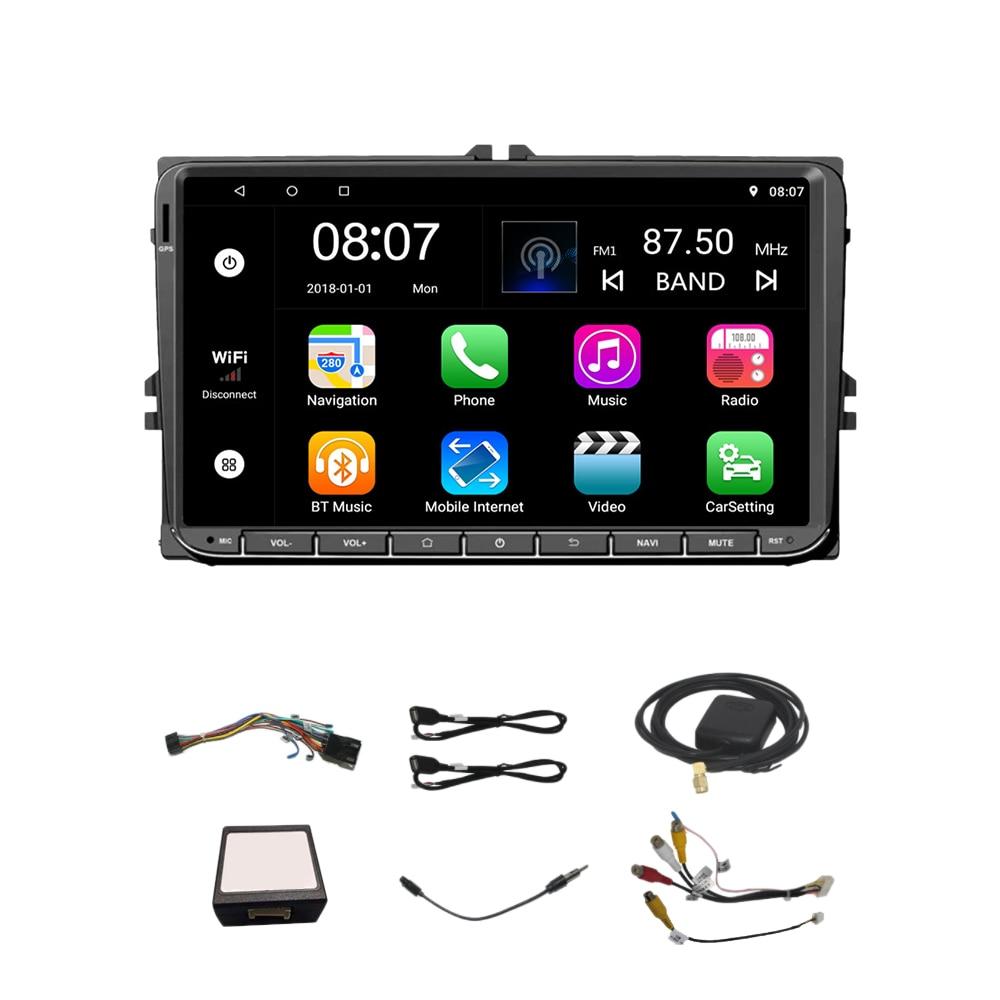 9 Inch Android 8.0 Double 2Din Car Radio Gps Auto Radio 2 Din for Volkswagen/Passat/Golf/Skoda/Seat Wifi Bluetooth|Car Mirror Video| |  - title=