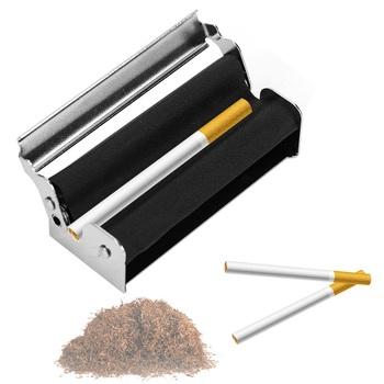 Akcesoria do palenia maszynka do papierosów urządzenie papierosowe tytoń Roller urządzenie do zwijania przenośny papieros maszynka do papierosów Rolling Roller tanie i dobre opinie Prosta ZD-L-LC88 Metal Cigarette maker Cigarette device