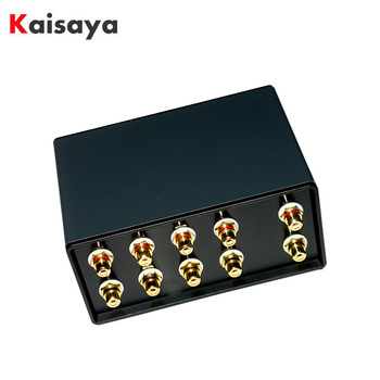 4 Input 1 Output Passive Audio Signal Switcher Switch Selector Box Sound HiFi Audio Signal Splitter With Volume Control G1041