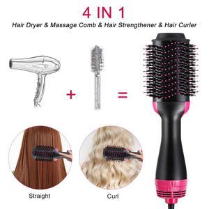 Image 5 - Профессиональный одношаговый фен для волос с горячим воздухом, 2 в 1 выпрямитель и бигуди, электрическая плойка, гребень