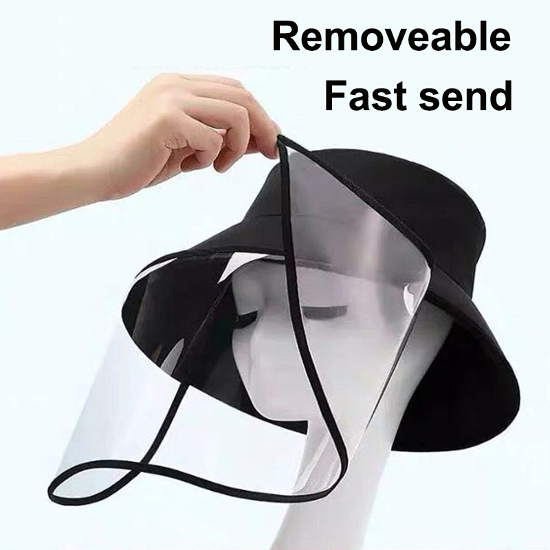 Reuse Face Mask Hat With Removable Plastic Cover Full Face Eyes Nose Mouth Safety Protection Anti Spread