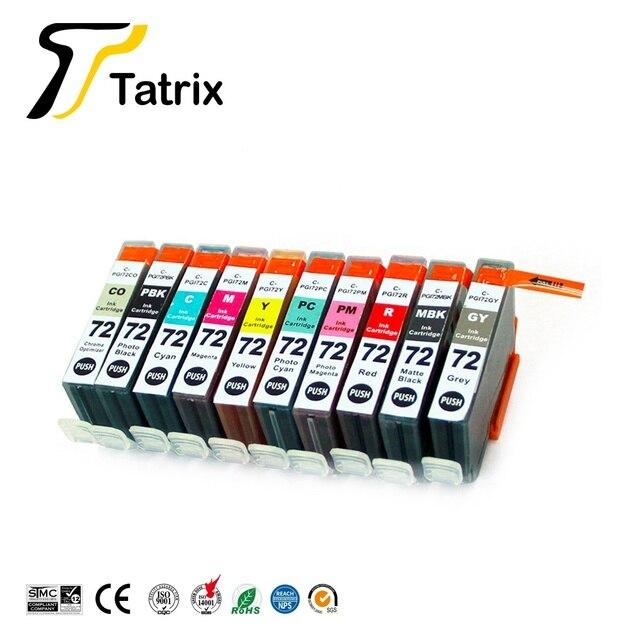 Tatrix PGI72 PGI 72 renk uyumlu yazıcı mürekkep canon için kartuş PIXMA Pro 10 Pro 10 PRO 10S PRO 10S