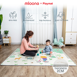 mloong Baby Playmat playmat Waterproof Foldable XPE Foam thickness Large Crawling playmat for kids