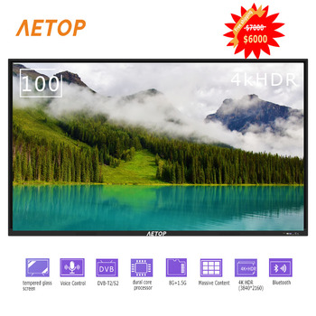 Free shipping-big size 100 inch hdr led tv 4k explosion-proof flat screen tv android smart  with bluetooth