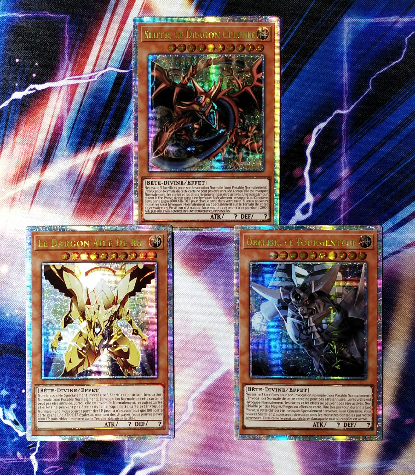 3pcs/set Yu Gi Oh English Egyptian Card Of God DIY Colorful Toys Hobbies Hobby Collectibles Game Collection Anime Cards
