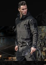 Free shipping,man winter warm fleece coat.black waterproof thick jacket.wholesales men Tactical clothing.pockets outwear,(China)