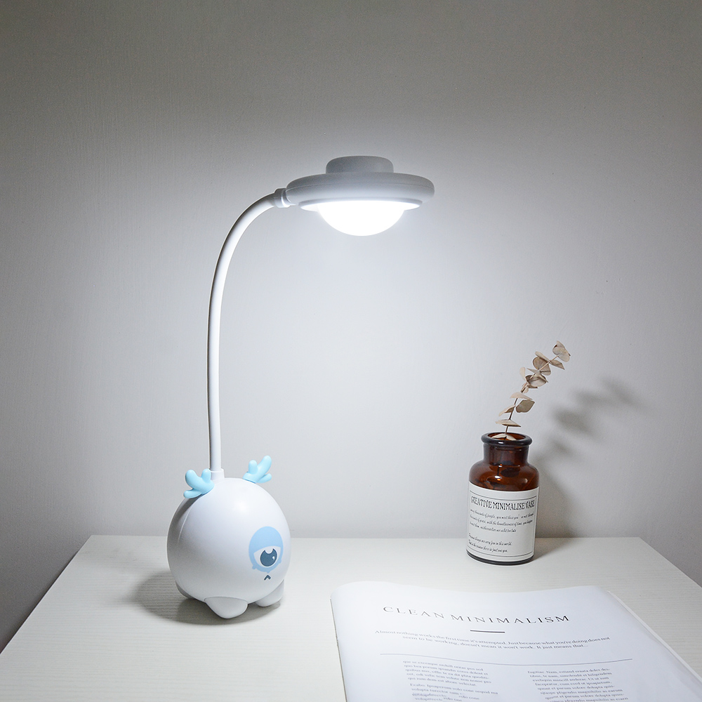 USB Touch Dimming Cute Deer Baby LED Desk Lamp Kid Bedroom Home Modern Indoor Study Bedside Decoration Creative Gift Night Light