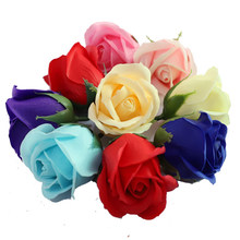 50pcs Cheap Soap Rose Head beauty Wedding decoration Valentine's Day Gift Wedding Bouquet Home Decoration Hand Flower Art(China)