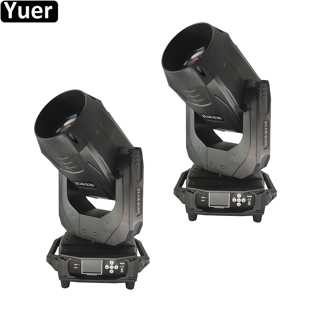 2Pcs/Lot 380W LED Beam Moving Head Light Two-way Rotating Prism DJ Disco Light For Big Stage Gig Party Club Bar Effect Lighting