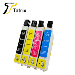 Tatrix 4PK do projektora Epson T0461 T0472-T0474 atrament kartridż do Epson Stylus C63  C65  C83  C85  CX3500  CX4500  CX6500 itp.