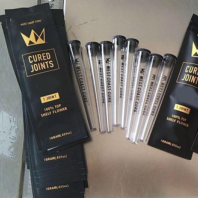 West Coast Cure Joints Bag Packaging For 1.0ml 0.8ml Vape Pen Carts  Cartridges 1pcs 3pcs Plestic Tubes Preroll Pre-rolled Tube T - Super Promo  #DB0902 | Cicig