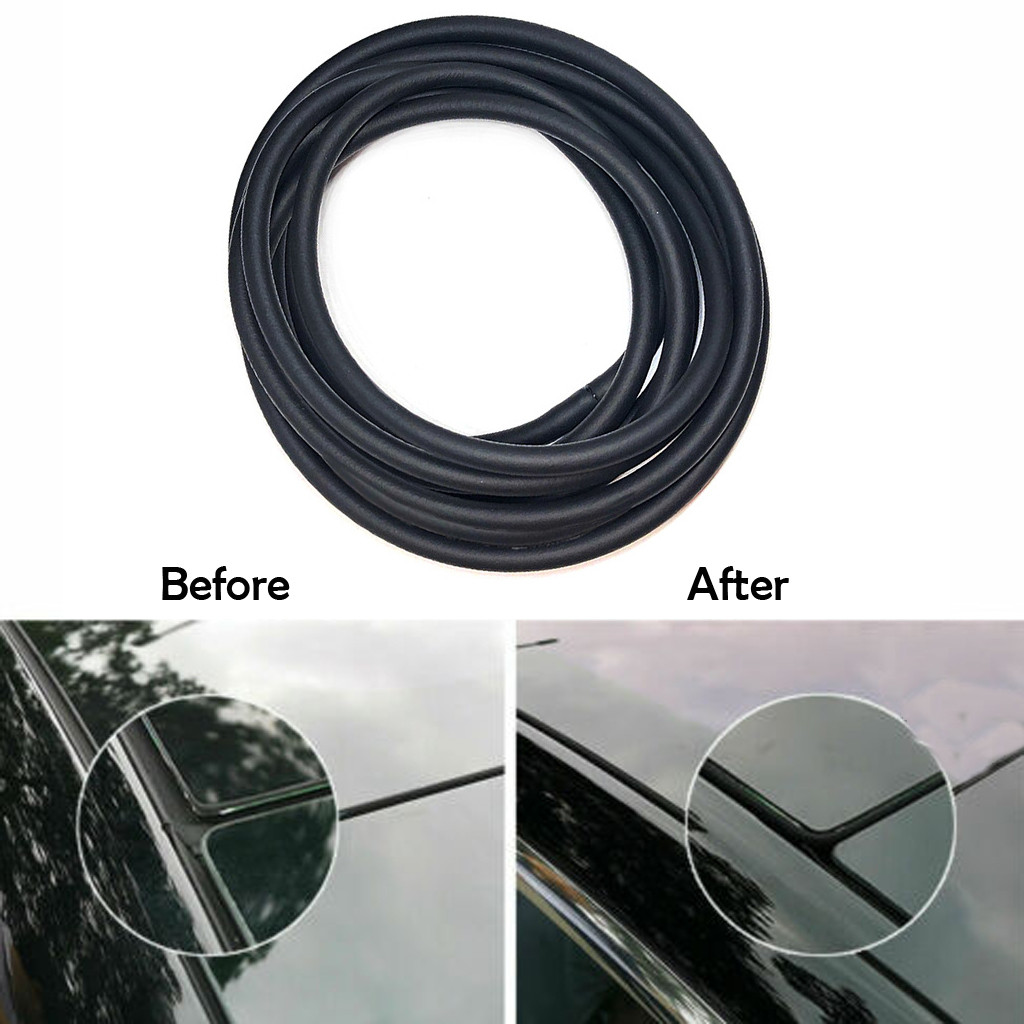 1.7m Rubber Seal Strips Directly Stuck on The Front Windshield Panel Anti-aging
