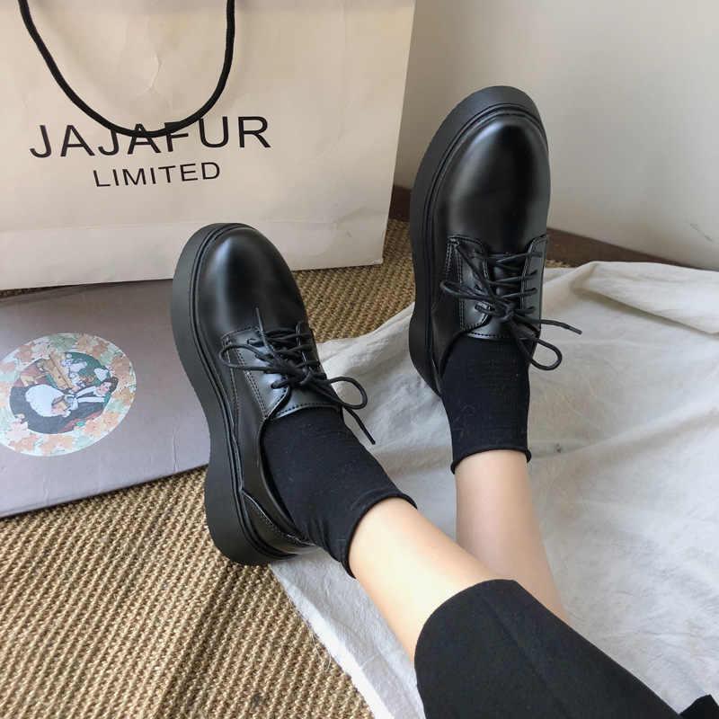 Fujin Creepers kadınlar rahat ayakkabılar daireler 2020 lace up bahar sonbahar nefes ayakkabı moccasins platformu flats ayakkabı kadınlar için