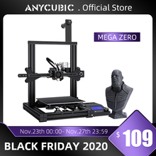 3D принтер ANYCUBIC Mega Zero DIY, 3D печать, металлическая рама, Impresora 3D 220*220 * 250mm ³ FDM 3D принтер s