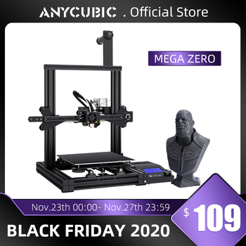 ANYCUBIC-Impresora 3D modelo Mega Zero impresión 3D, marco de Metal, 220x220 x...