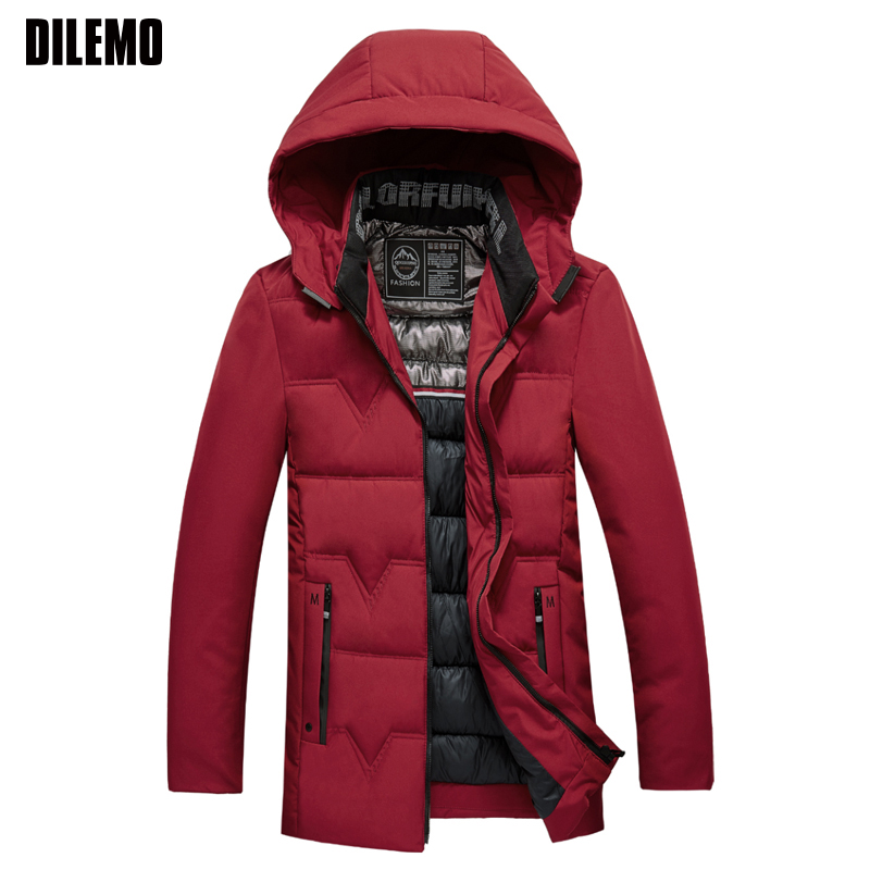 2019 Winter Fashion Brand Jacket Mens Thick Streetwear   Parka   Hooded Quilted Jacket Korean Puffer Bubble Coat Men Clothes