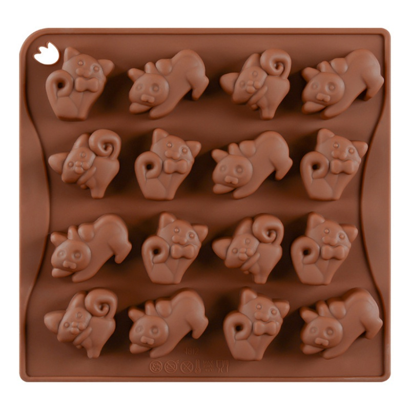 Cat Silicone Chocolate Mold Ice Cube Tray Jello Fudge Mold Candy Gum Mould Decoration