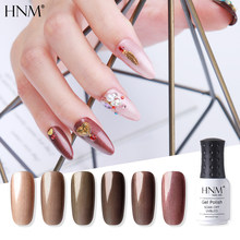 HNM 8ml Bronze SeriesUV Gel Nail Polish DIY Narl Art Soak Off Hybrid Varnish LED Lamp Semi Permanent Paint Lucky Lacquer Enamel(China)