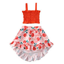 Aa/одежда для малышей из 2 предметов летняя одежда с цветочным