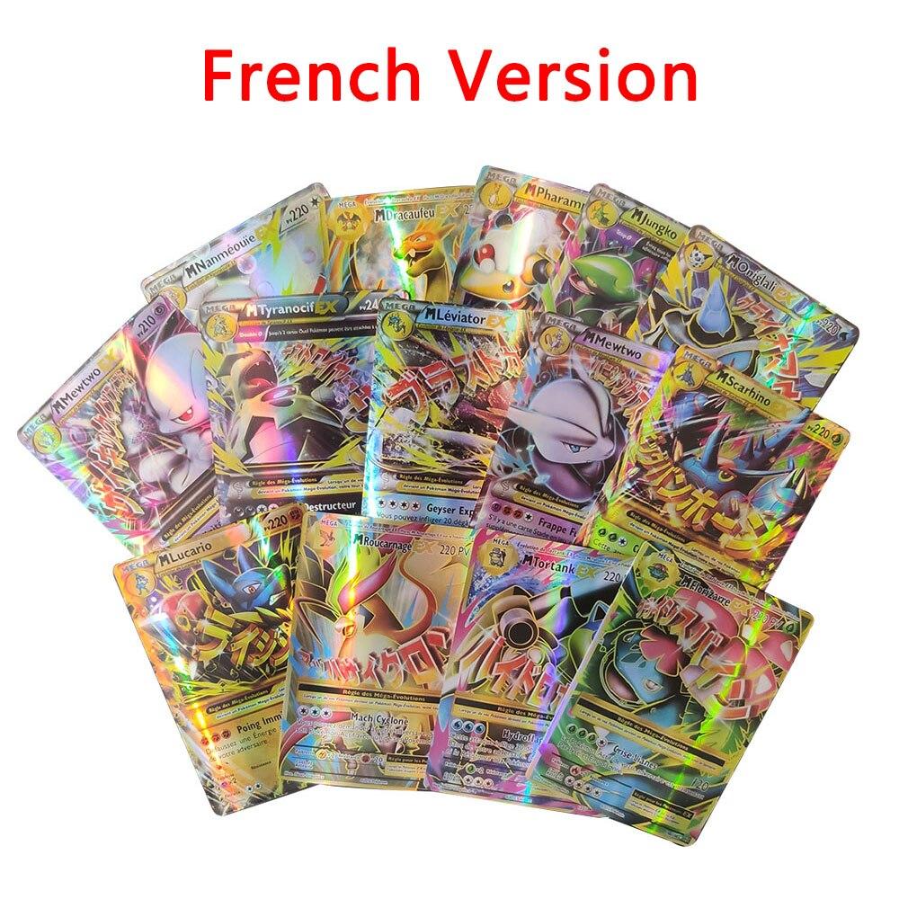 Карты Покемон версии на французском языке, V Vmax сияющая карточка, коллекция командных бустеров, боевая игра, карточка GX EX, детские игрушки, по...