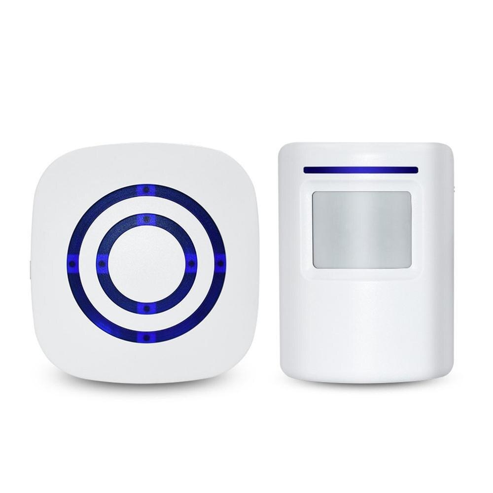 Smart Wireless Waterproof Doorbell US EU Plug Home Cordless Door Bell Chime 1 Button 1 Receiver
