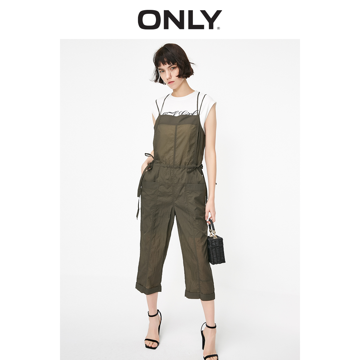 ONLY Women's Loose Fit Lace-up Waist Jumpsuit | 119144502