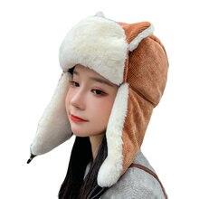 Winter beanie hat thicken velvet warm lei feng cap face mask