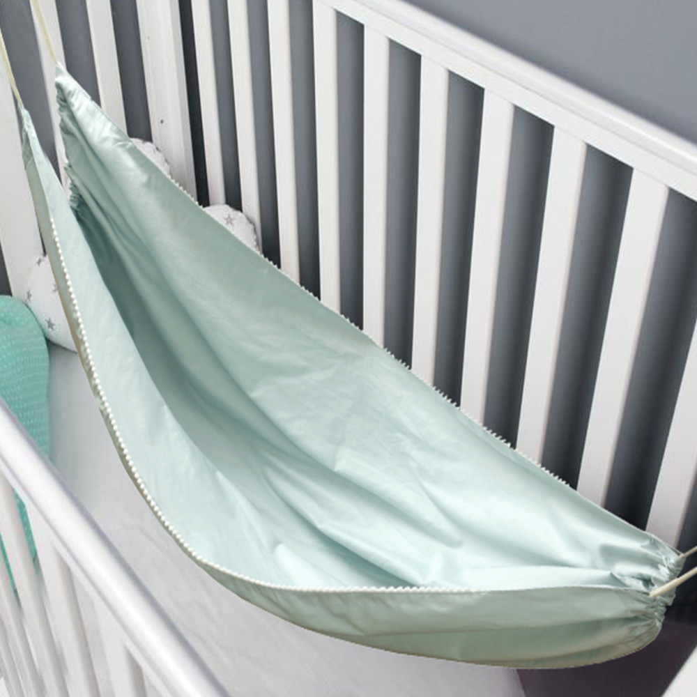 H03fbab66d1964135916e42537d06696cg Baby Cotton Hammock Swing for Crib Cot Removable Baby Rocking Chair Sleeping Bed Indoor Outdoor Adjustable Hanging Basket