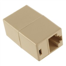1Pcs RJ45 for CAT5 Ethernet Cable LAN Port 1 to 1 Socket Splitter Connector Adapter(China)