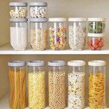 Кухонные прозрачные мульти-запечатанные банки пластиковый для хранения еды бак скандинавский Штабелируемый Коробка для хранения еды для перекуса бак для хранения LB909125