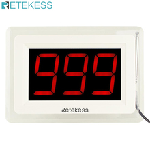 Retekess T114 Wireless Calling Counter Screen Call Pager System with Voice Reporting for Restaurant Call Waiter F9405A