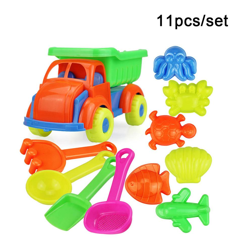 11pcs/set Children Beach Toys ABS Plastic Sandbox Play Sand Snow Kids Sand Game Safe Cute Toy Children Summer Water Toys