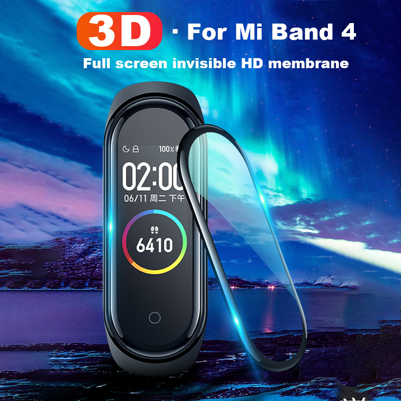 3D Protective Film For Mi Band 4 Strap 1 2 5 Pcs Full Cover (Not Tempered Glass) Explosion-proof Scratch-resistant Protector
