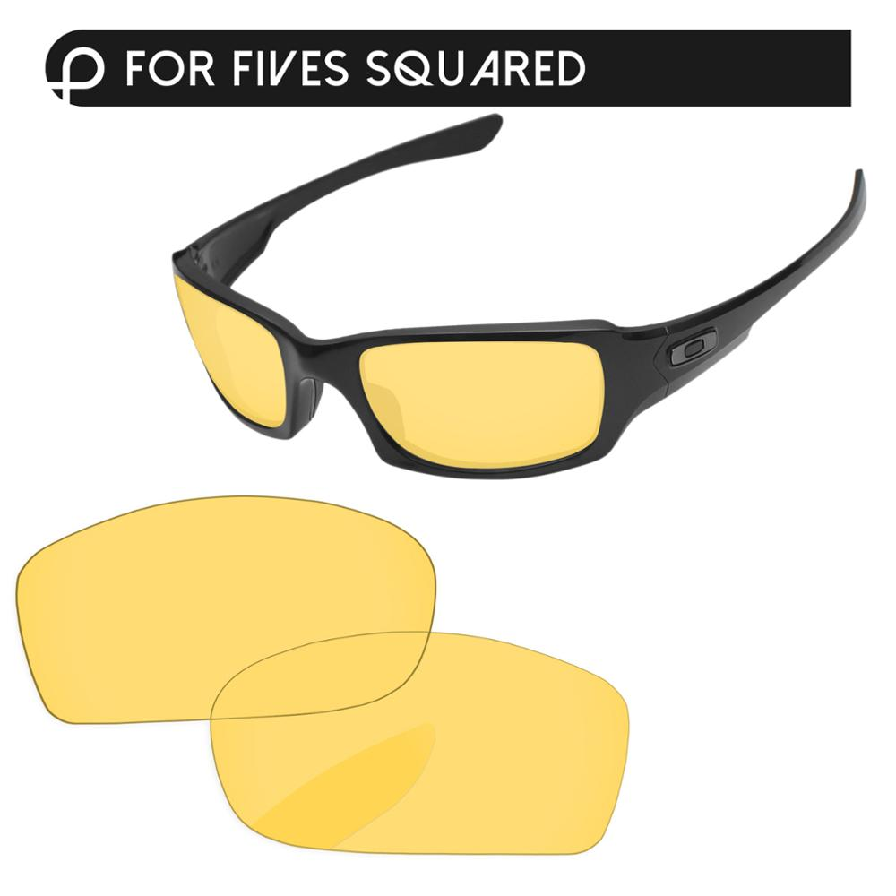 Papaviva Crystal Yellow Replacement Lenses For Fives Squared Sunglasses Frame 100% UVA & UVB Protection
