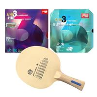 Pro Combo Racket Sanwei HC6S Long Shakehand FL with DHS NEO Hurricane 3 and Hurricane 3
