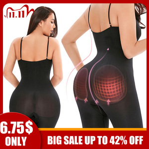 Women Shapewear Sculpting Bodysuits Butt Lifter Shaping Mid-Thigh Length Pants Tummy Control Chest Support Body Shaper Enhancing