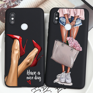 High Heels Shoes Legs Coffee For Xiaomi Redmi MI Note 9 8 8T 7 6 5 K30 K20 9S 9C 8A 9 SE 10 Pocophone F2 Lite Plus Pro Max Case