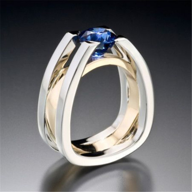 Two Tone 925 Silver Ring 1