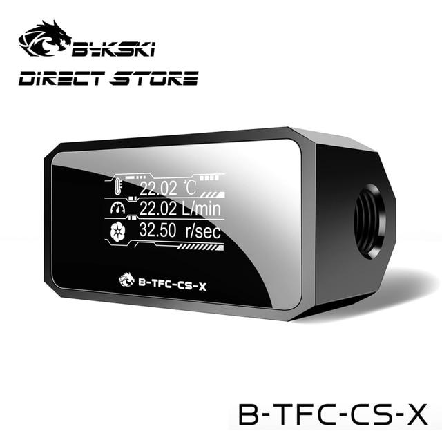 Bykski Thermometer Water Cooling System Monitor Flowmeter Leaking Pump Speed Alarm RPM Temperature Sensor PC Cooler B-TFC-CS-X 1