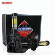 Leadtops 2 шт h4 светодиодный h7 автомобилей головной светильник