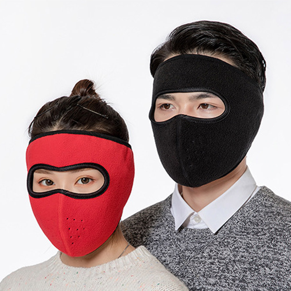 Windproof Plush Mask For Women Men Keep Warming Breathable Masks Winter Sports Riding Cycling Running FEA889