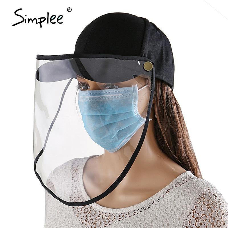 Simplee Antibacterial Bacteria Anti-Spitting Protective Bucket Mask Hats Outdoor Adjustable Full Fisherman Hat Cap Outdoor Caps