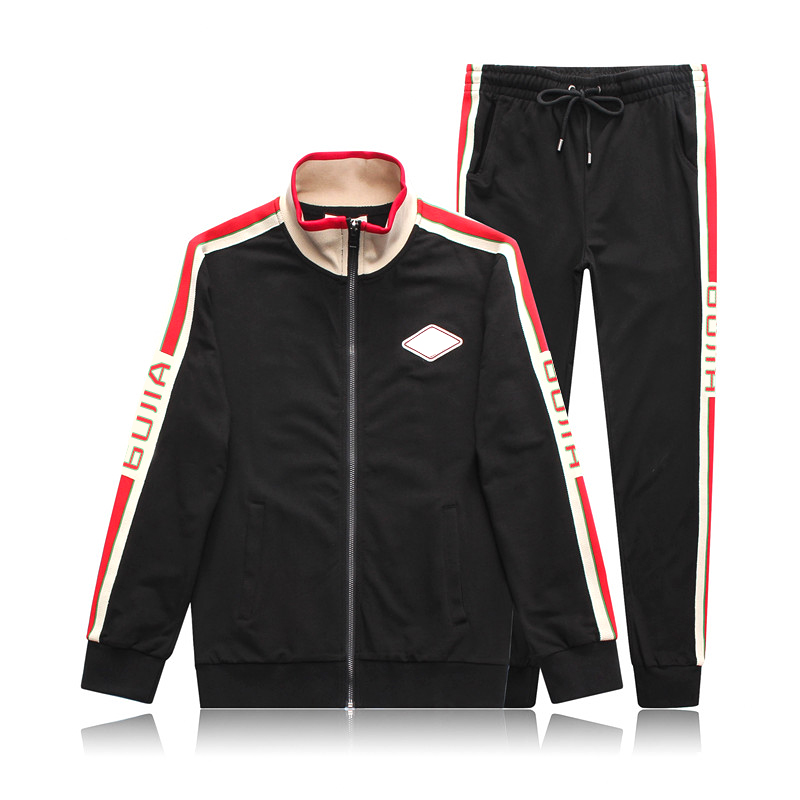 Star Bags Double GG Letter 2020 New Sportswear Suit With Men's Fashion Logo On The Side Long Sleeve Jacket Long Pants Men's Suit