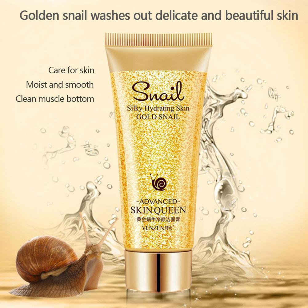 Gold Snail Cleanser Moisturizing Cleaning Pores Washing Blackheads Control Oil For Sensitive Face Remove Product Ski X2W0 image