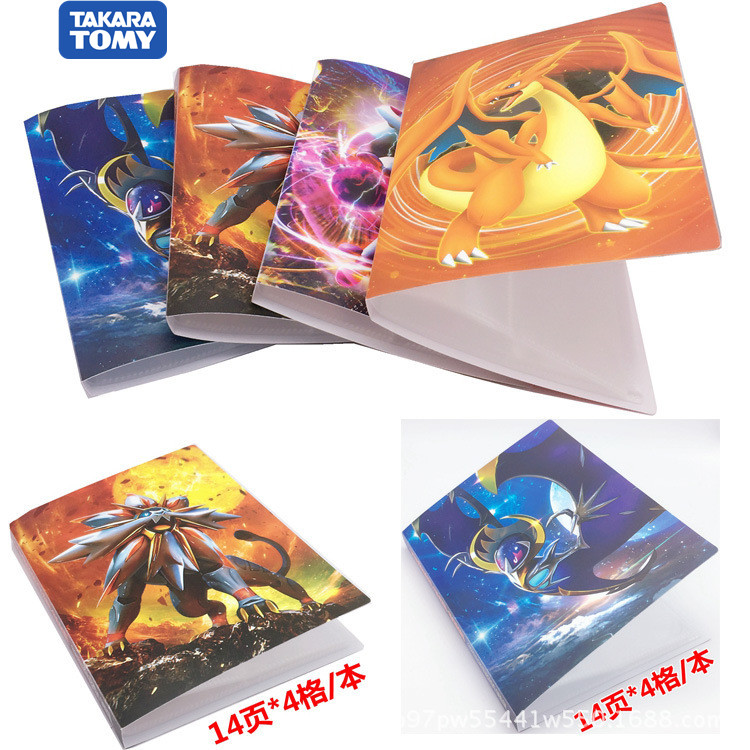 112Pcs Takara Tomy Holder Album Toys Collections Pokemone Cards Album Book Top Loaded List Toys Gift For Children